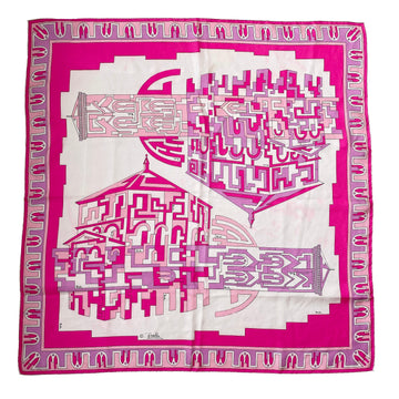 1970s Emilio Pucci Baptistery and Bell Tower Scarf