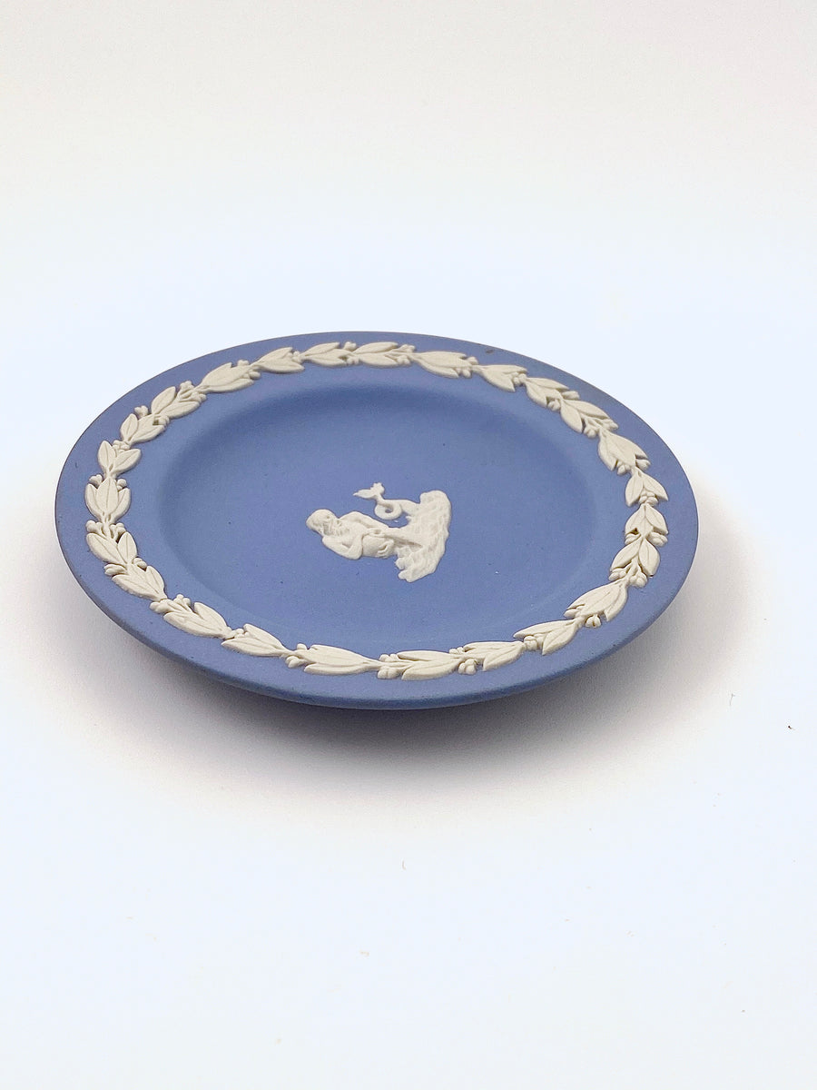 Wedgewood Blue Jasperware Aquarius Dish