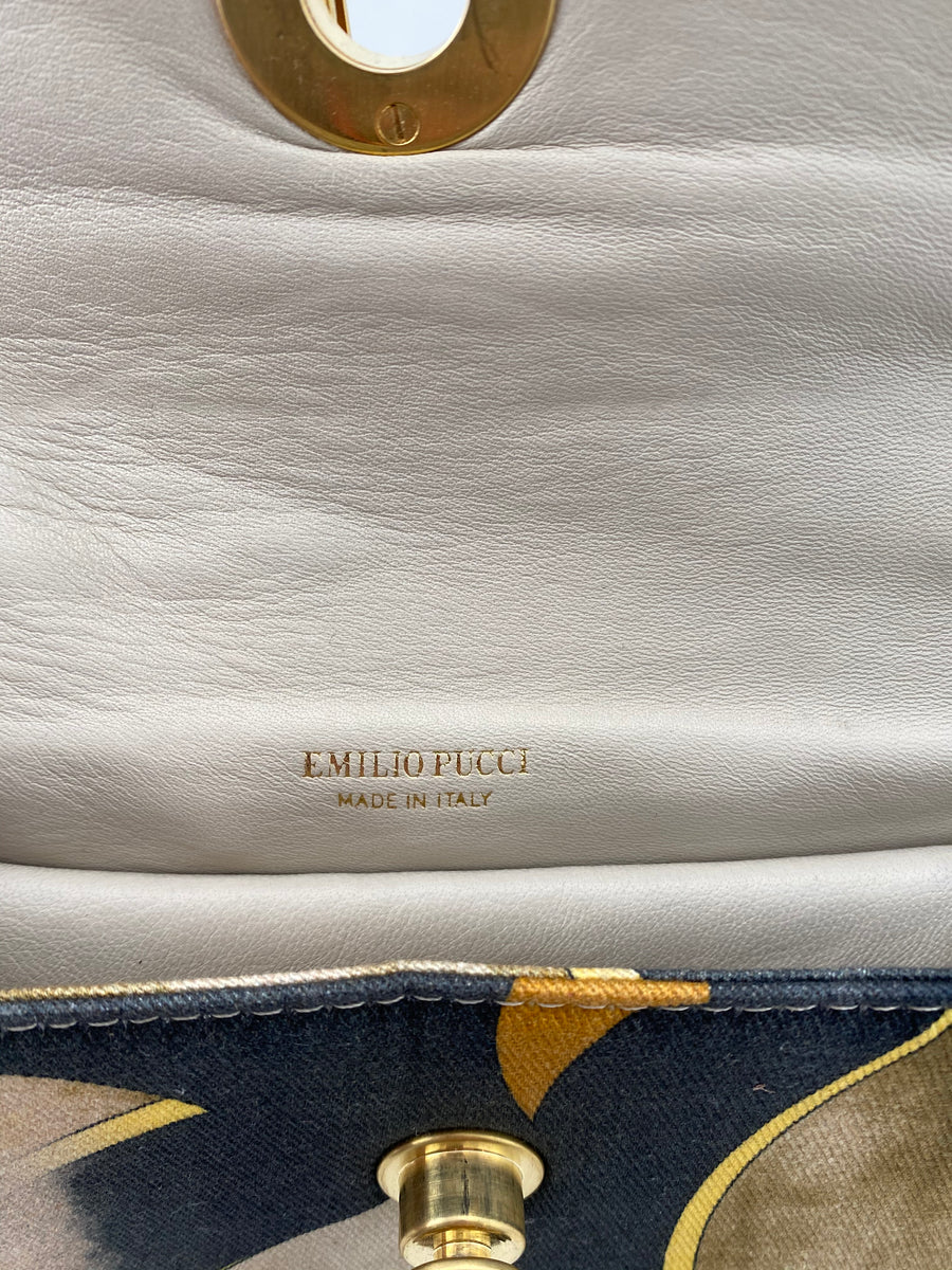 Emilio Pucci Shoulder Bag with Chain Strap