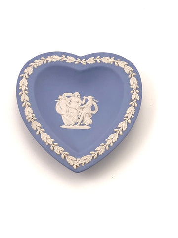 Wedgewood Blue Jasperware Heart Dish