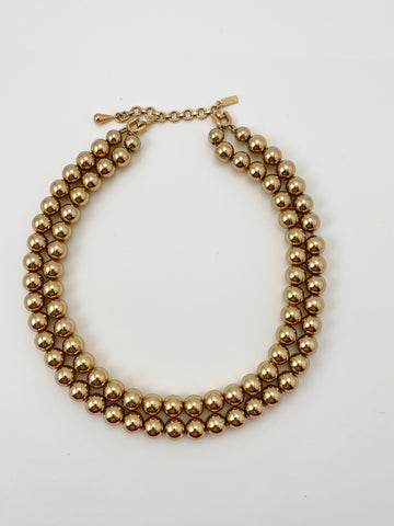 Vintage Monet Double Beaded Necklace