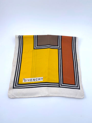 1970s Givenchy Graphic Scarf
