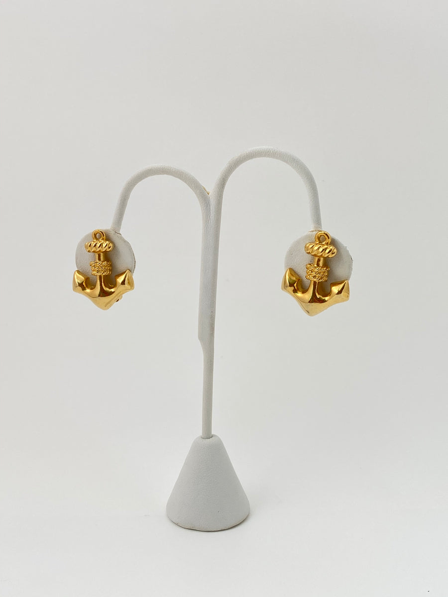Mimi di N 1980s Anchor Earrings