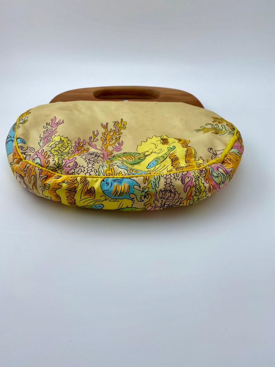 Rare 1950s Liberty of London Silk Bermuda Bag for Smith's of Bermuda