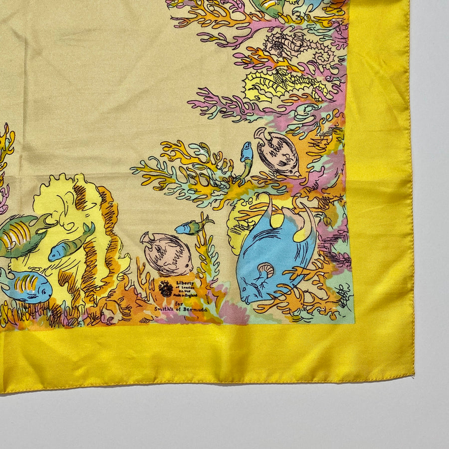 Rare 1950s Liberty of London Silk Scarf for Smith's of Bermuda