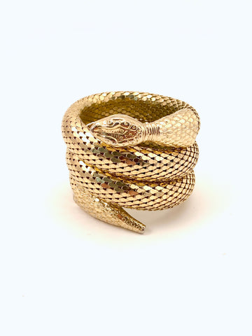 Whiting & Davis Gold Snake Bracelet