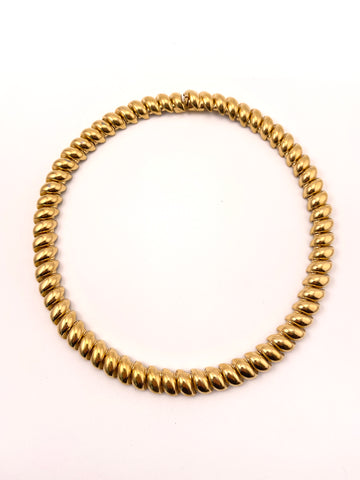 Vintage Ciner Gold Tone San Marco Link Necklace