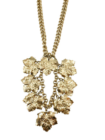 1950s Napier Goldtone Leaf Necklace