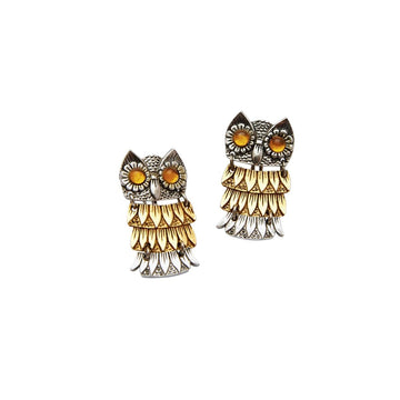 Vintage Articulated Owl Earrings