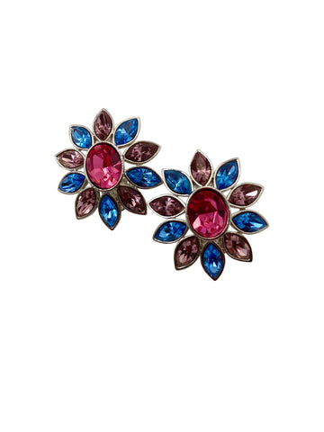 Vintage Yves Saint Laurent Flower Earrings