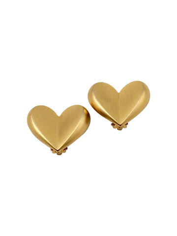 Givenchy Heart Clip Earrings 1980s