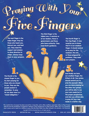 Praying with My Five Fingers - Prayer Card, Catholic (25 pack)