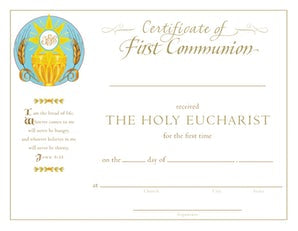 First Communion Certificate - Paraclete Press