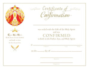 Confirmation Certificate - Paraclete Press