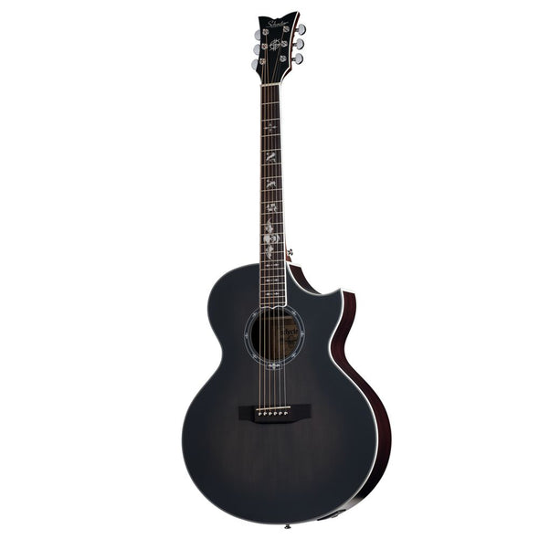 Synyster Gates Autographed Acoustic Guitar Trans Black Burst Satin 'GA SC' with Fishman Sonicore Piezo Pickups by Schecter Guitar Research 3701