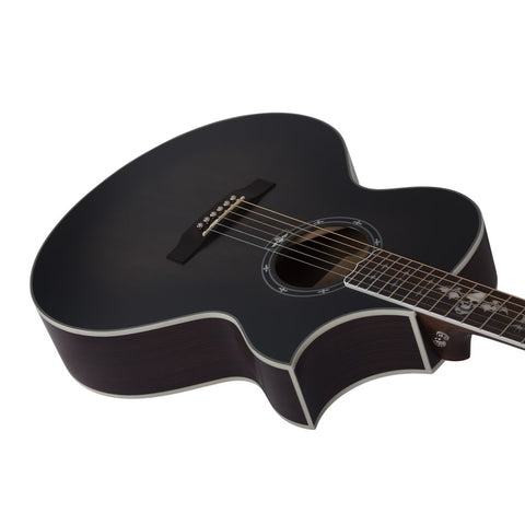 Synyster Gates Acoustic Guitar Trans Black Burst Satin
