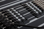 Synyster Gates Autographed Guitar Gloss Black with Silver Pinstripes