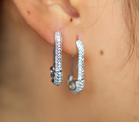 Bold Safety Pin Earrings