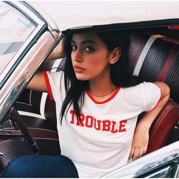 TROUBLE Graphic T