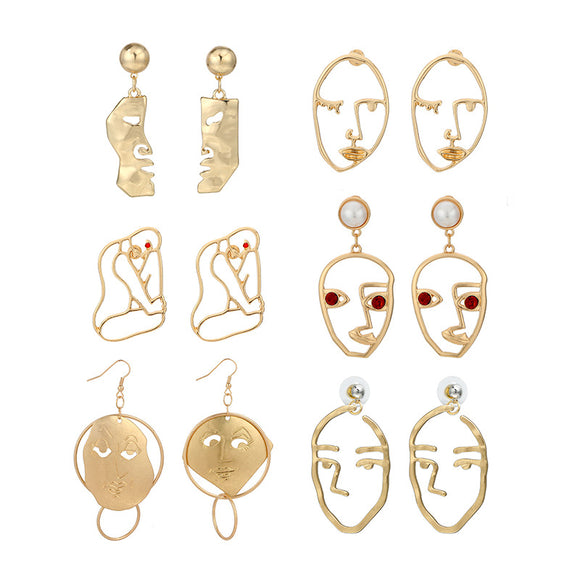 Abstract Portrait Earrings