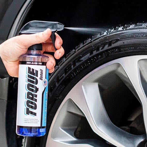 High-Gloss Tire Shine Spray (16oz) - Shines + Protects Tires Torque Detail