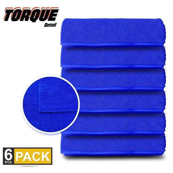 "Microfiber Towels - Designed for Professional Detailing - 16"" Square Super Soft Terry Towel Torque Detail"