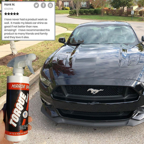 Mirror Shine™ - Super Gloss Hybrid Car Wax Spray & Sealant (16oz Bottle) Torque Detail