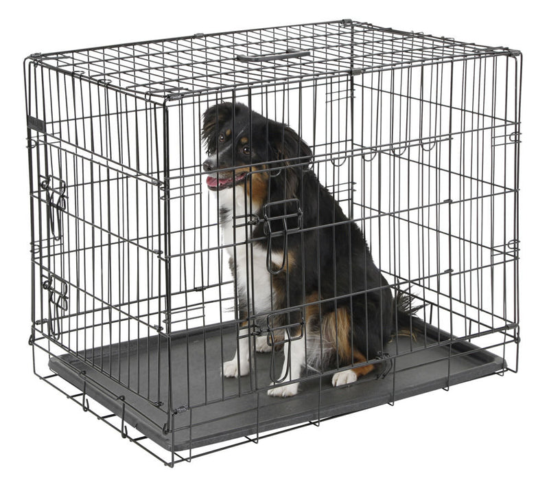 DOG CAGE COLLAPSIBLE & MAT 76 x 54 x 64cm