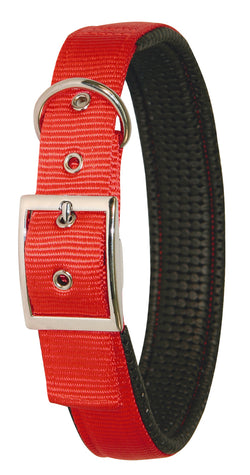 Collar Nylon Miami Plus Red 33-39cm X 20mm