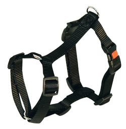 Harness Nylon Miami Black 30-40cmx15mm