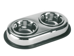 Duo Pet Feeder Stainless Steel