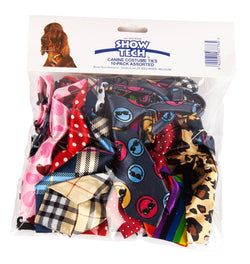 Show Tech Canine Neck Ties Assorted Pkt 10
