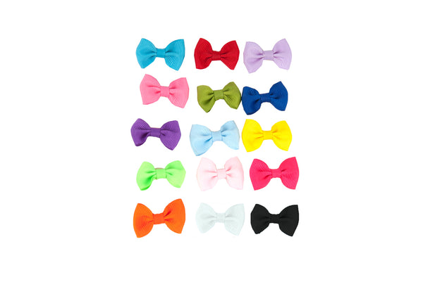 Show Tech Plain Multicolour Bows Assorted Pkt 50