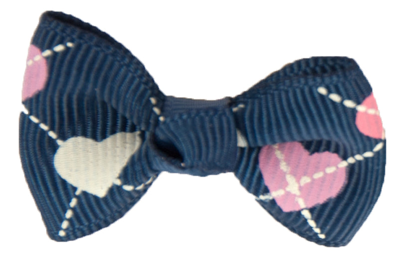 Show Tech Argyle Heart  Bows Assorted Pkt 50