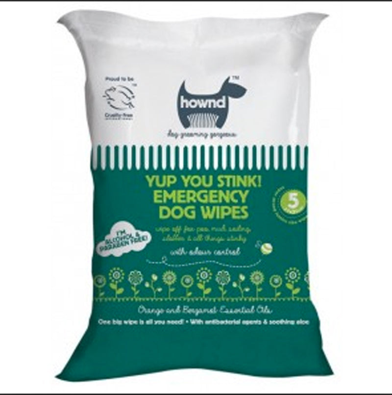 Hownd Yup You Stink Antibacterial Dog Wipes Pack 5