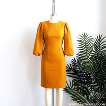 Load image into Gallery viewer, PORTFOLIO | Golden Puffed Sleeves Dress
