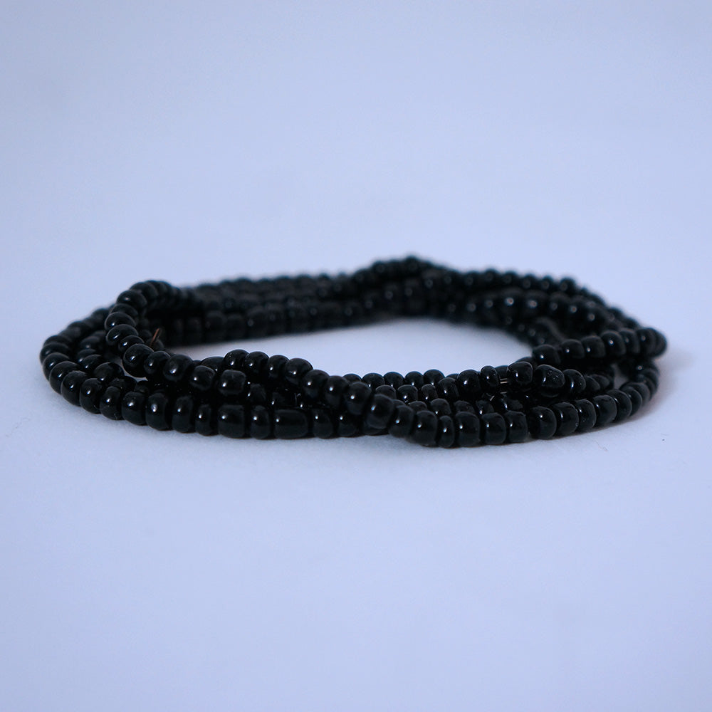 Black Glass Beads Bracelet