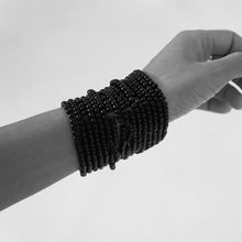 Load image into Gallery viewer, Black Glass Beads Bracelet