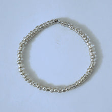 Load image into Gallery viewer, Silver Glass Beads Bracelet