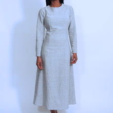 Load image into Gallery viewer, Light Grey Linen A Skirt Dress