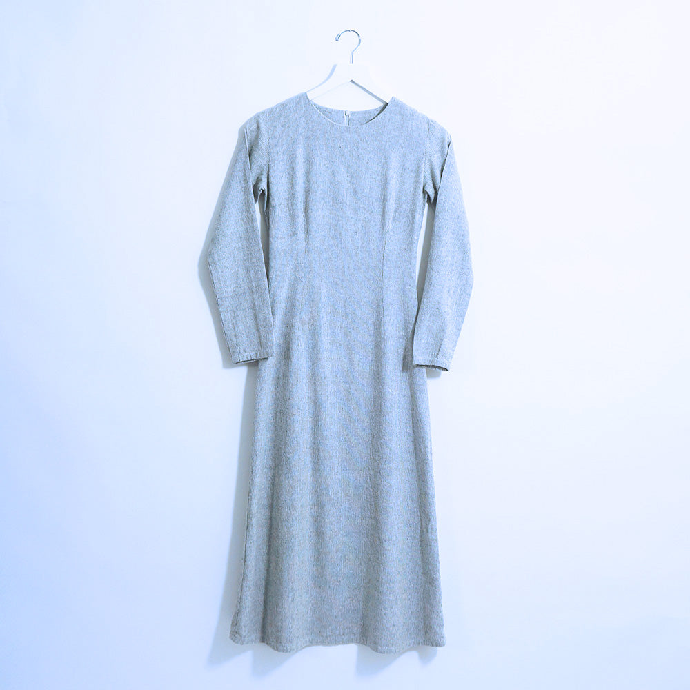 Light Grey Linen A Skirt Dress