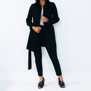 Black Cotton Long Sleeves Jacket