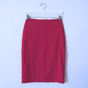 Hot Pink Cotton Skirt