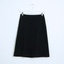 Load image into Gallery viewer, Black Cotton A Skirt