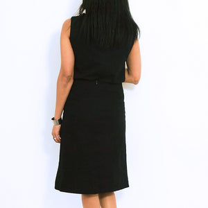 Black Cotton Sleeveless Top
