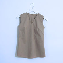 Load image into Gallery viewer, Tan Cotton Sleeveless Top