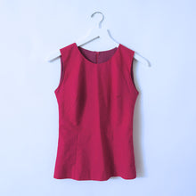 Load image into Gallery viewer, Hot Pink Cotton Sleeveless Top