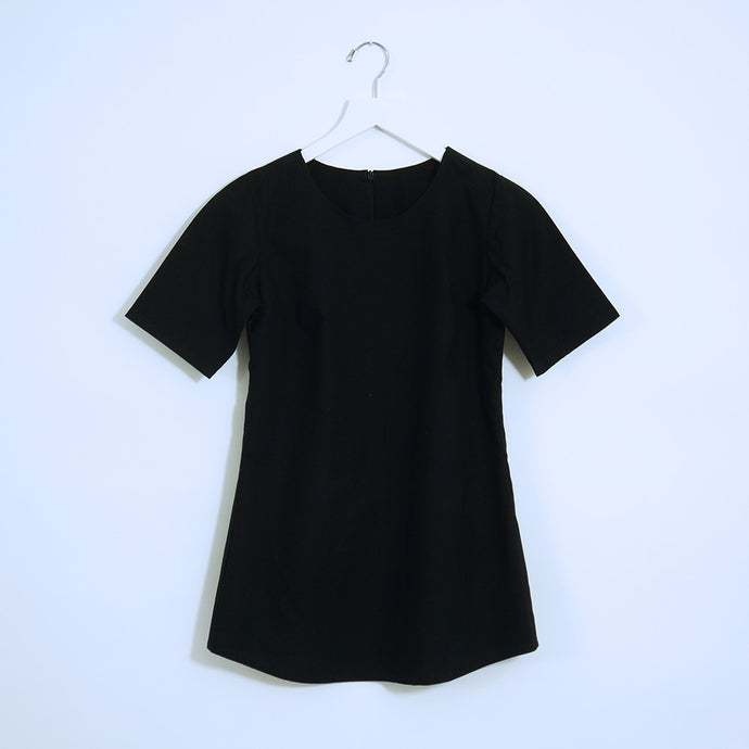 Black Cotton 3/4 Sleeves Top