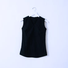 Load image into Gallery viewer, Black Cotton Sleeveless Top