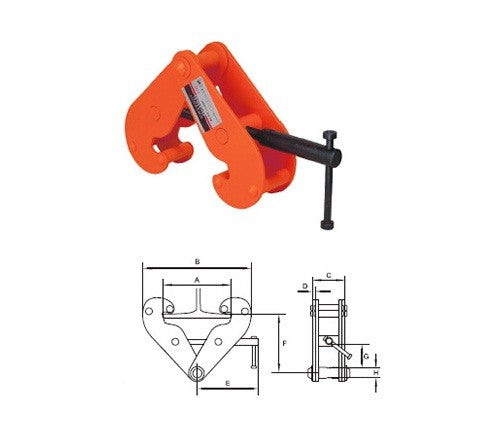 JG Series Beam Clamps (3000kg)